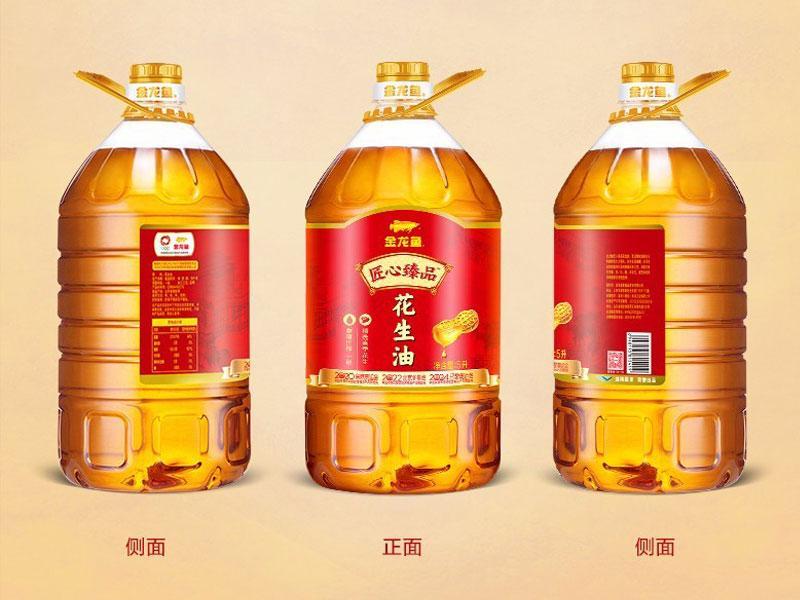 金龙鱼匠心臻品一级压榨花生油5L(4桶/箱)