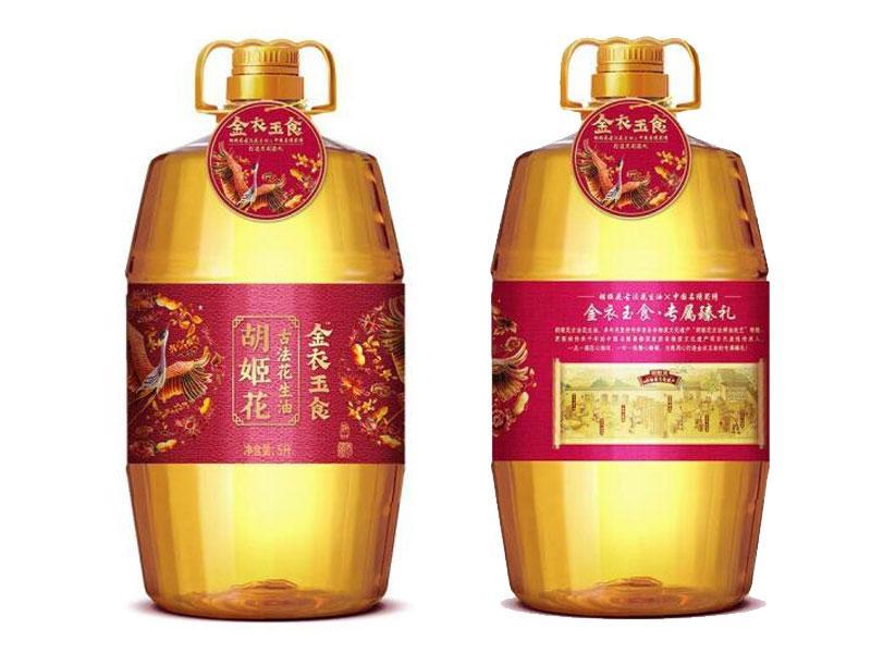 【新品】胡姬花 金衣玉食古法花生油一级压榨5L(4桶/箱)